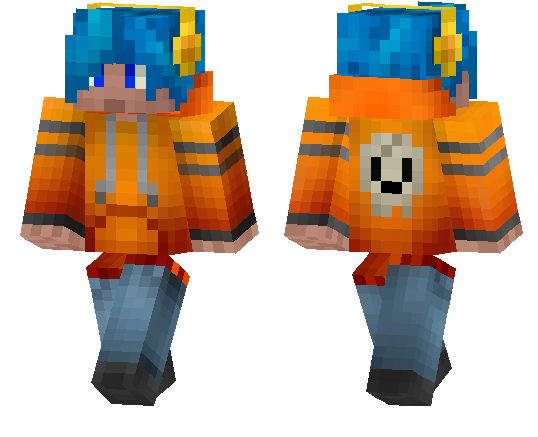 Blue Haired Guy | Minecraft PE Skins