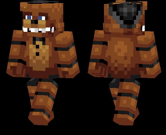 Minecraft PE Skins Page MCPE DL - Skin para minecraft pe de freddy