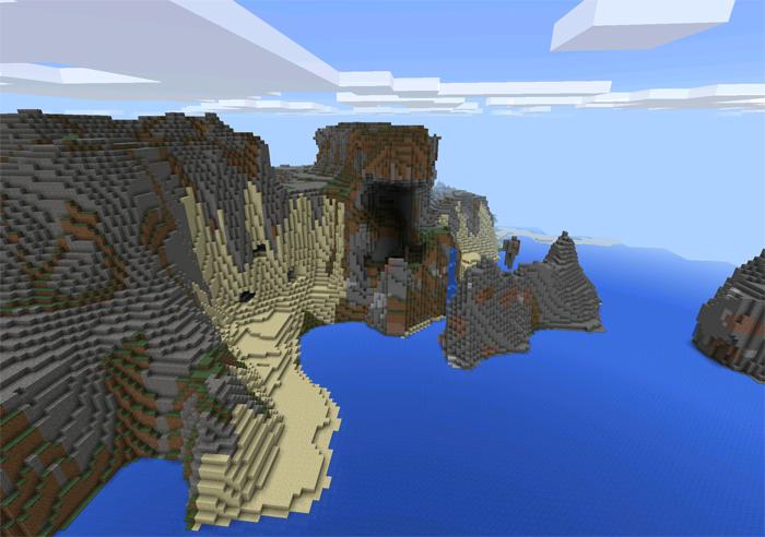 сид на пещеры в майнкрафт пе 0.11.1 #9