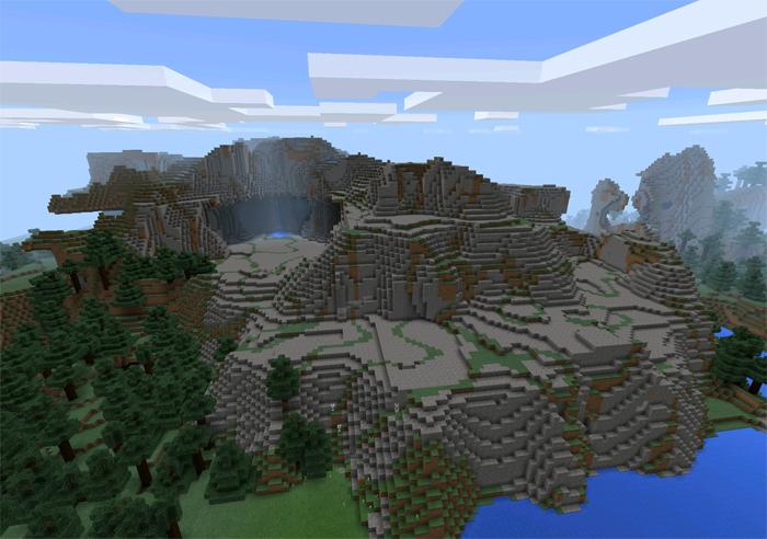 сид на пещеры в майнкрафт пе 0.11.1
