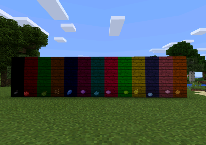 Colorable planks mod minecraft pe mods addons