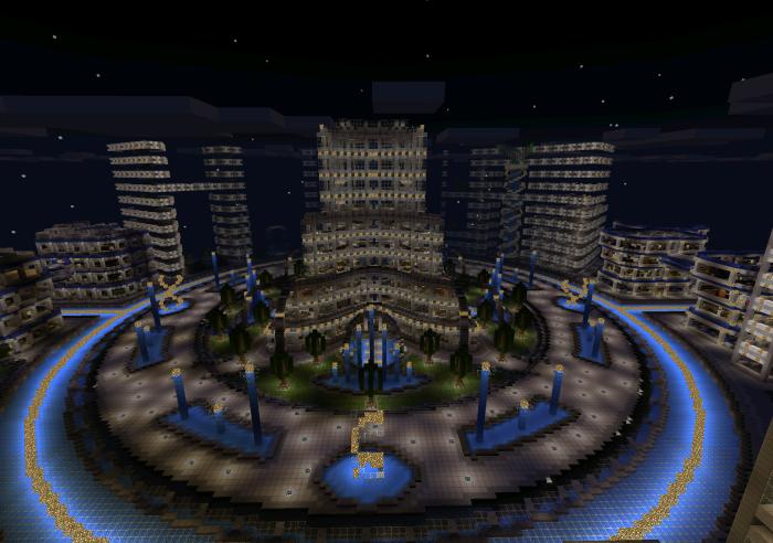 Futuristic City [Creation]   Minecraft PE Maps