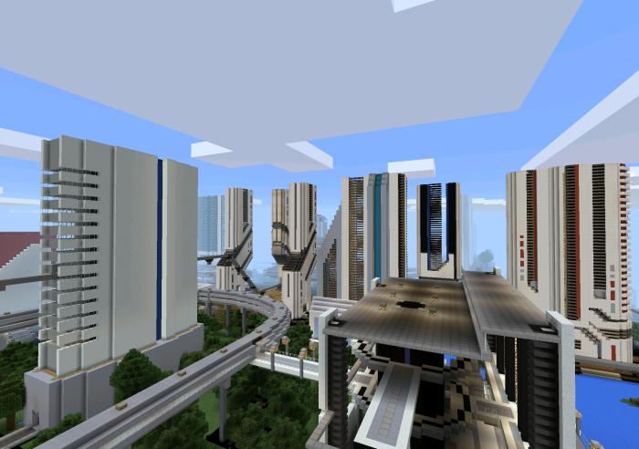 Future city creation minecraft pe maps screenshot 2015 07 15 14 11 gumiabroncs Images