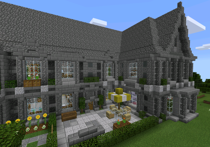 Victorian manor creation minecraft pe maps for Victorian manor house