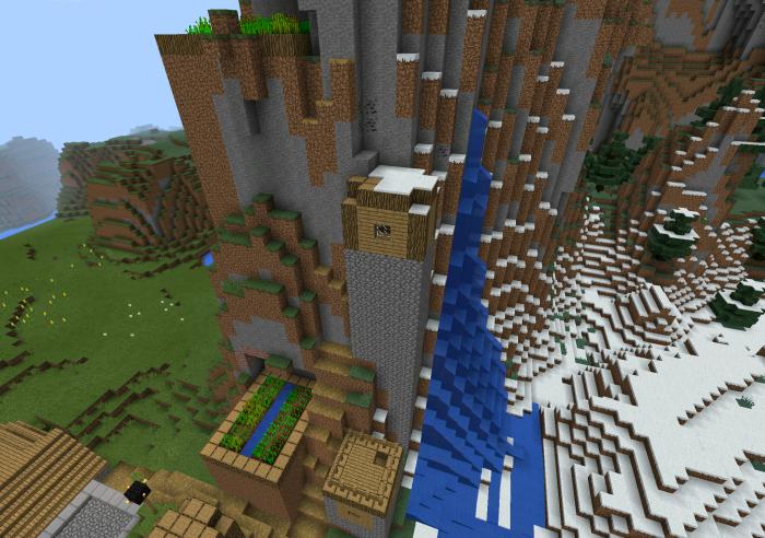 Kaboom Snow Mountain Village Minecraft Pe Seeds