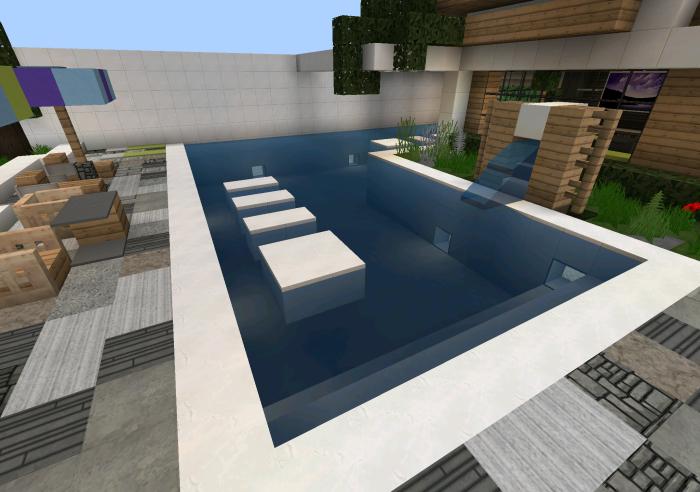 Case Moderne Minecraft : Best modern home design in minecraft sandbox games surveys con