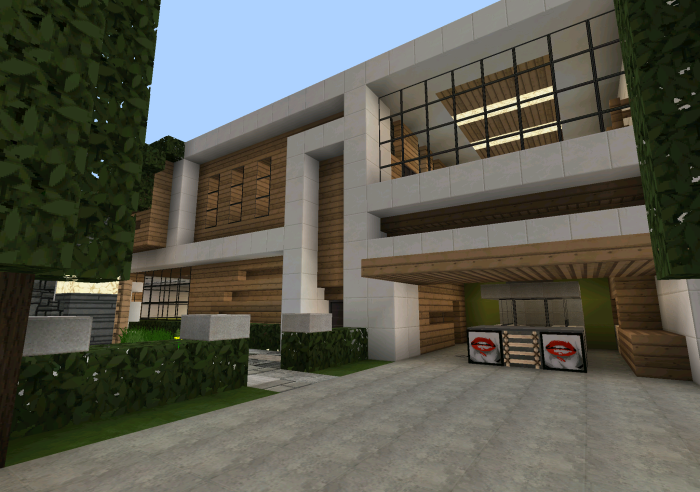 Casa moderna creation minecraft pe maps for Casa modernas