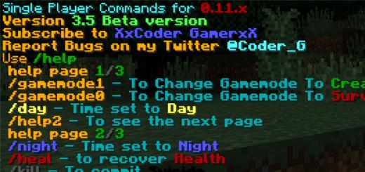 Advanced Single Player Commands Mod