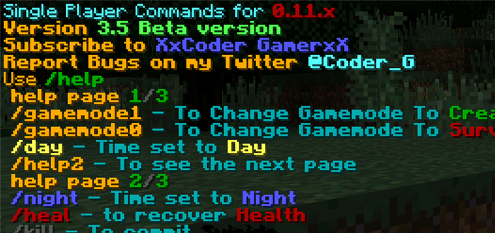 Advanced Single Player Commands Mod | Minecraft PE Mods & Addons