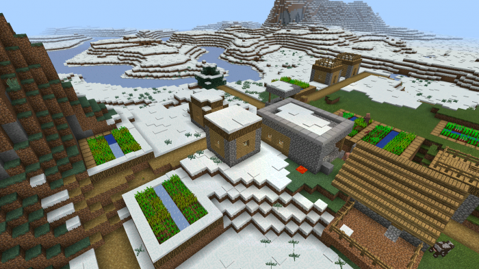 1063516859 winter village minecraft pe seeds screenshot2015 08 30 11 48 30 publicscrutiny Choice Image