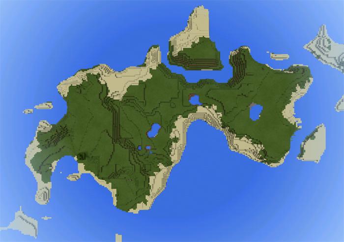 hiaa: Big Survival Island | Minecraft PE Seeds
