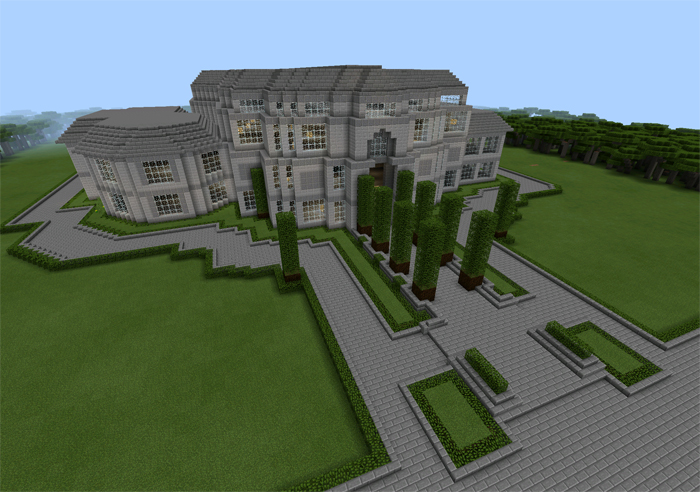 Presidential Mansion Creation Minecraft PE Maps - Minecraft coole hauser maps