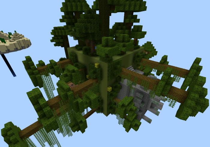 Карта Sky Islands для Minecraft PE 0.12.1