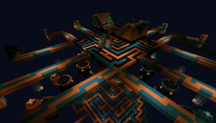 Карта TRON Skywars [PvP] для Minecraft PE 0.12.1