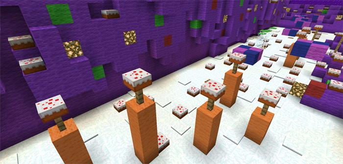 Candy Land [Parkour] | Minecraft PE Maps on