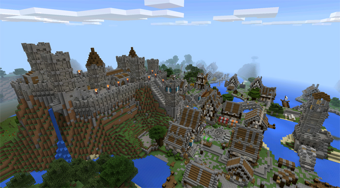Castle of Lendor [Creation] | Minecraft PE Maps Minecraft Lord Of The Rings Castle