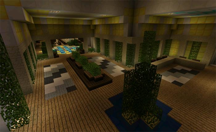 Modern Hotel Creation Minecraft Pe Maps