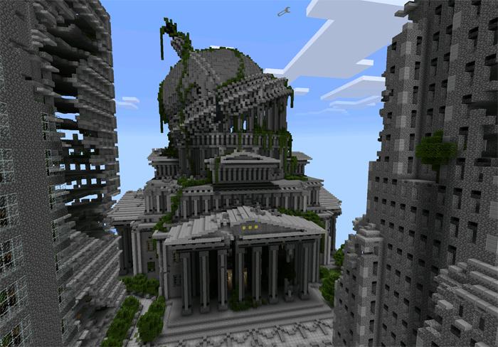 скачать карту заброшенный город для майнкрафт #1