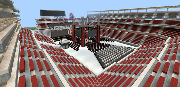Wrestling Arena Creation Minecraft PE Maps - Skin para minecraft pe wwe