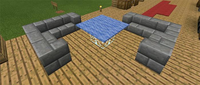 Minecraft Pe Furniture furniture ideas [creation] | minecraft pe maps
