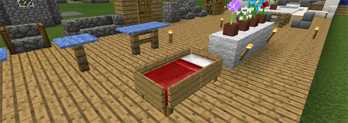 Itu0027s Very Easy To Make Too. All You Need Is Some Stone Brick Stairs,  Carpets, A Wool Block, Fences, A Flower And A Flower Pot.
