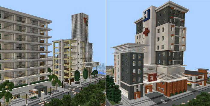 How To Build A Town In Minecraft Pe