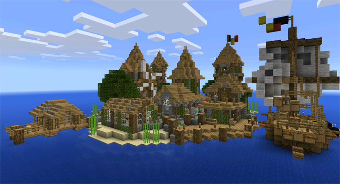 Medieval Island Village Creation Minecraft Pe Maps