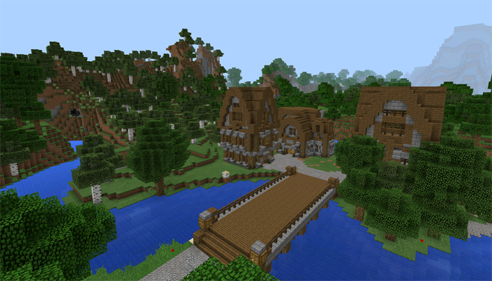 Ruhig Village [Creation] | Minecraft PE Maps