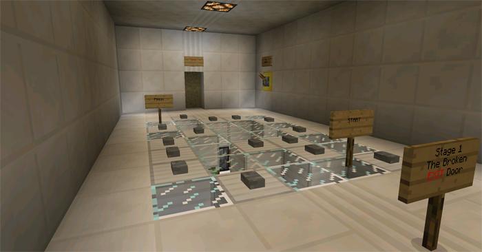 The Exit [Redstone] [Puzzle] | Minecraft PE Maps