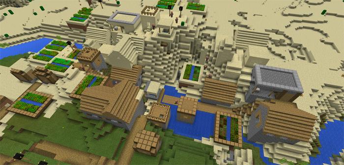 город в майнкрафте 0.13.0 #4