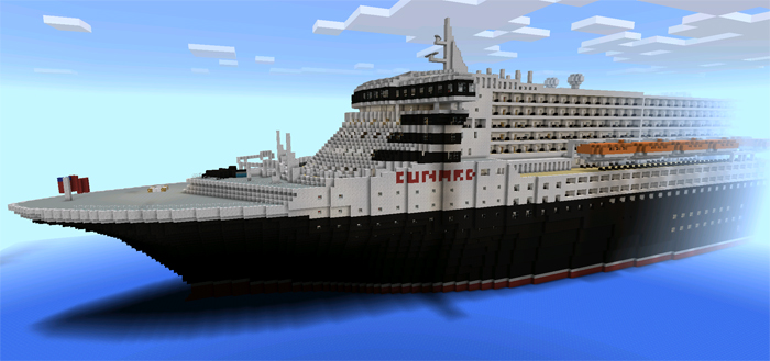 Rms Queen Mary 2 Pe Creation Minecraft Pe Maps