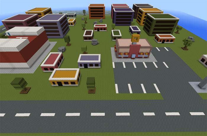 smashy road city creation minecraft pe maps