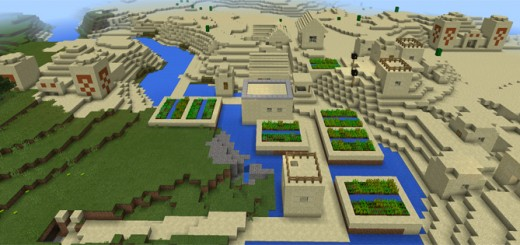 how to find a sand village in minecraft pe