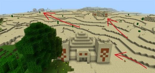 -1973191934: Three Desert Temples at Spawn
