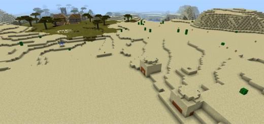 1951203040: Two Desert Temples & Two Savannah Villages
