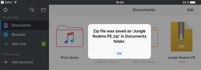 mobile zip file opener