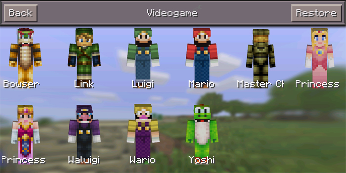 More Skin Packs Mod Minecraft PE Mods Addons - Skin para minecraft android y pc