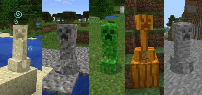 Camouflaged creeper mod minecraft pe mods addons camouflaged creepers voltagebd Image collections