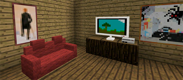 Minecraft Pe Furniture more furniture mod | minecraft pe mods & addons