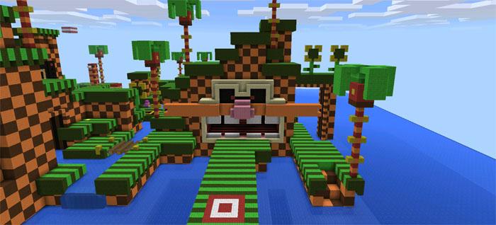 sonic.exe minecraft pe map