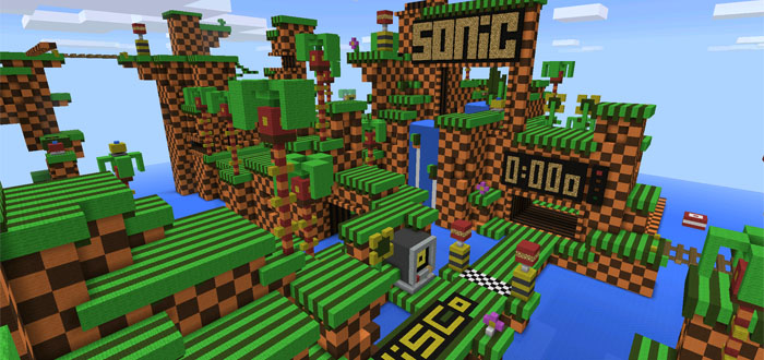 Sonic The Hedgehog Parkour Minecraft PE Maps - Mapas para minecraft pe 0 15 1 en español