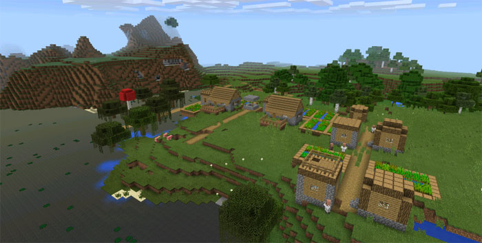 77301621 witch hut village at spawn minecraft pe seeds finding the village and witch hut publicscrutiny Choice Image