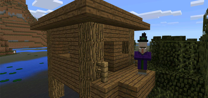minecraft pe seeds witch hut and village at spawn seed mcpe 12 11