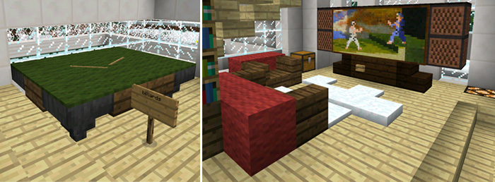 Modern Redstone House [Redstone] | Minecraft PE Maps