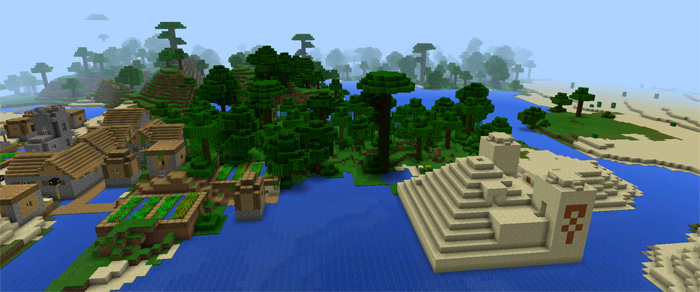 Temple amp village minecraft pe seeds get seeds for minecraft pe
