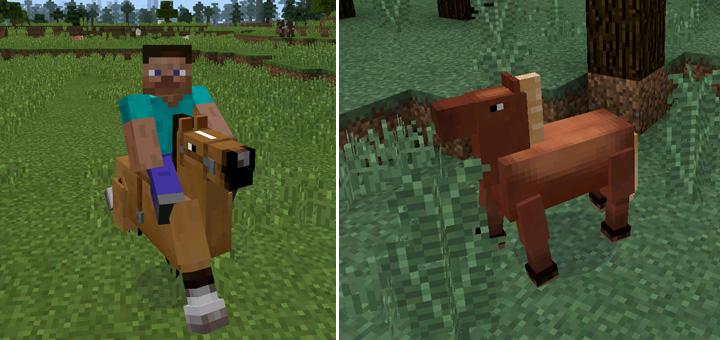 Horses Mod | Minecraft PE Mods & Addons