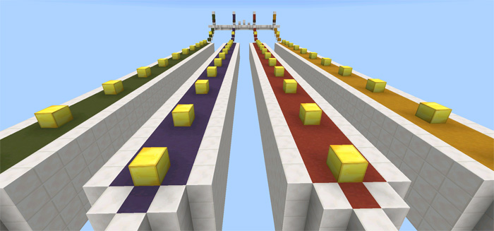 Multiplayer Lucky Block Race (Modded Map!) [Minigame
