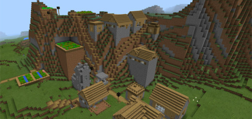 -1285793296: Mountain Village At Spawn