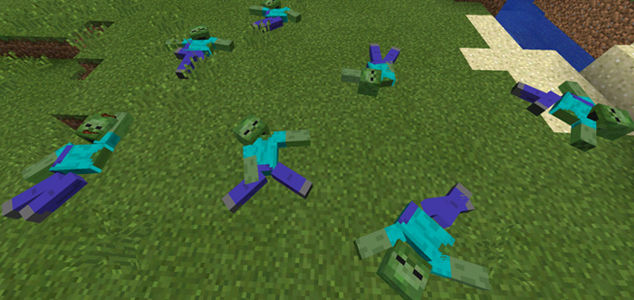 Corpse Mod Horror Warning Minecraft PE Mods Addons - Zombey skin fur minecraft pe