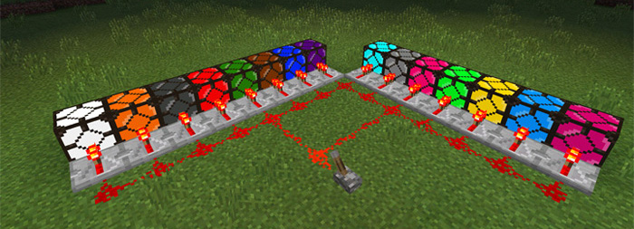 Super colored lightning 2000 mod minecraft pe mods addons colored redstone lamps 2 aloadofball Images
